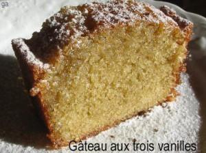 Gâteau aux trois vanilles