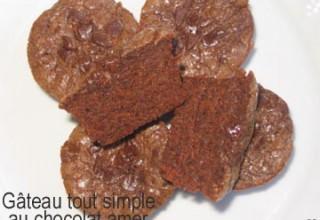 Gâteau tout simple au chocolat amer