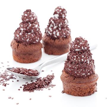 Cupcake au chocolat meringué