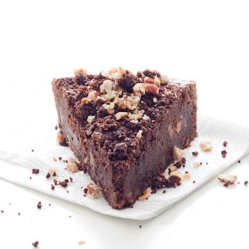 Brownie au chocolat noir et aux noix de pécan, de Phillippe Conticini