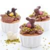 Cupcakes au chocolat et praliné