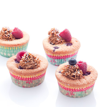Cupcakes aux fruits rouges et spéculoos