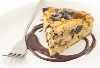 Gâteau crumble aux poires et au chocolat