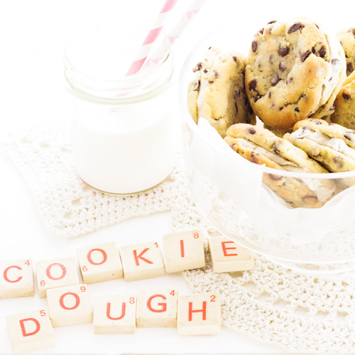 Cookie dough sandwich cookie