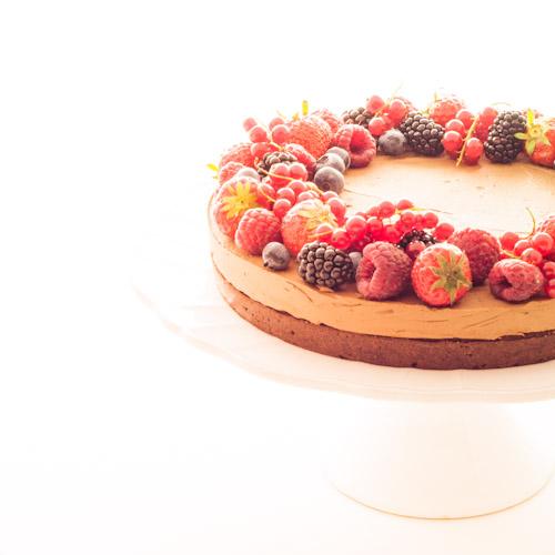 Gâteau double chocolat aux fruits rouges