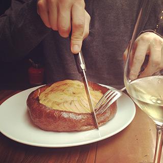 la pascade tarte aux pommes et boudin
