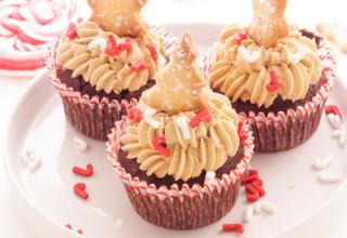 Cupcake au chocolat et au spéculoos