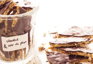 Toffee aux noix de pécan et au chocolat