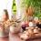 Apéritif dînatoire : billes de bretzel, beurre noisette, salades etc