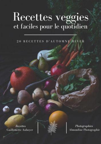 Couverture Ebook recettes veggies et facile